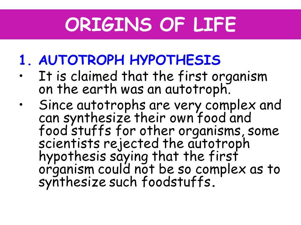 ORIGINS OF LIFE 1.
