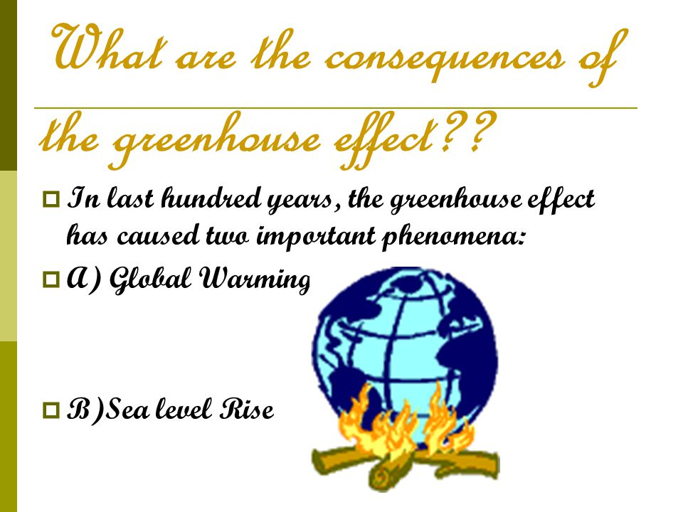 What are the consequences of the greenhouse effect?.
