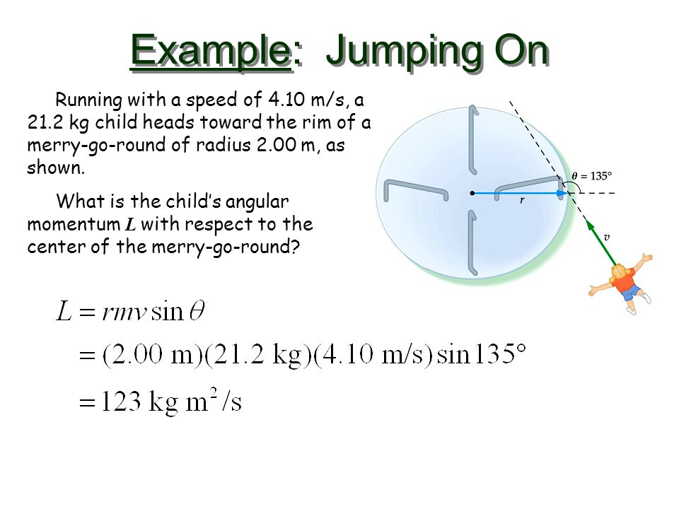Example: The Spin Angular Momentum of the Earth What is the angular momentum of the Earth as it rotates on its axis.