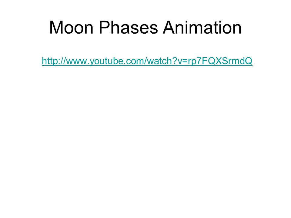 Moon Phases Animation http://www.youtube.com/watch?v=rp7FQXSrmdQ