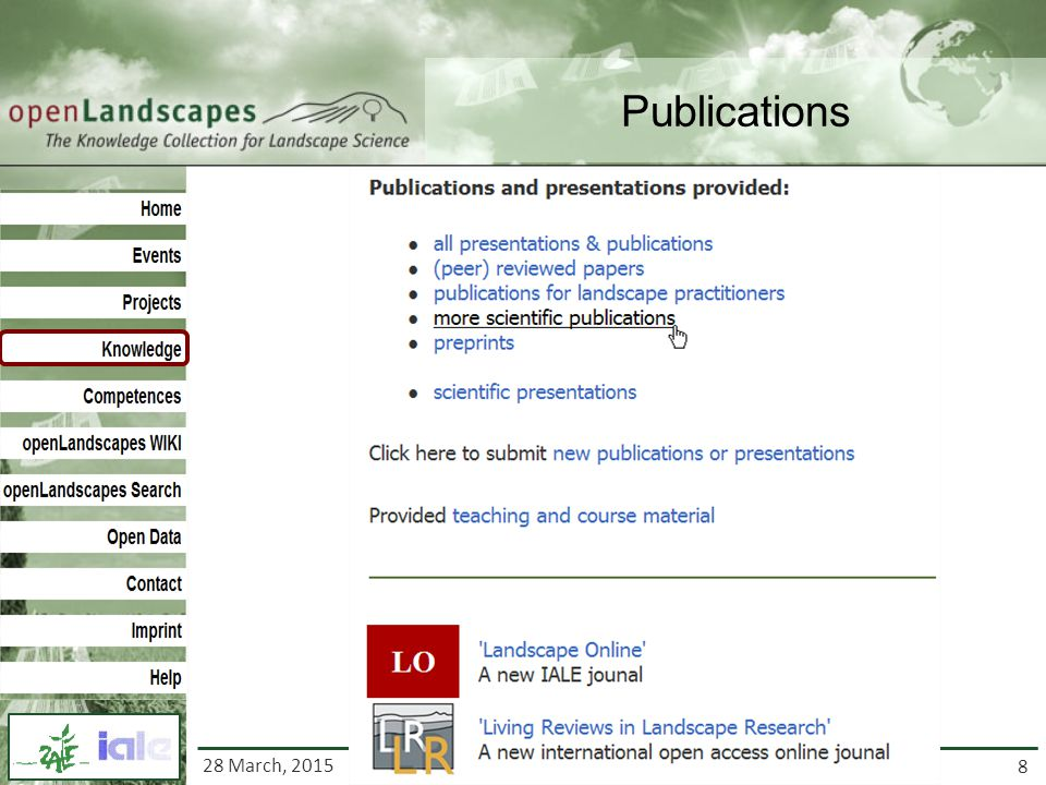 8 http://www.openlandscapes.org Publications 28 March, 2015