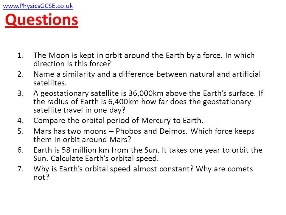 Questions www.PhysicsGCSE.co.uk
