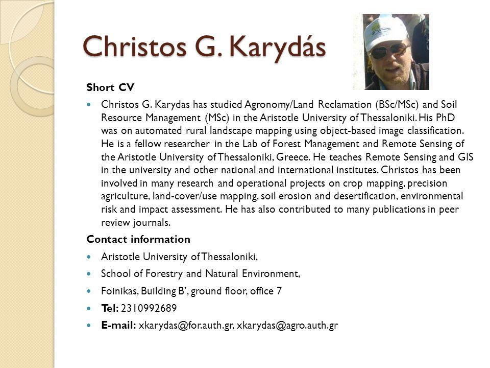 Christos G. Karydás Short CV Christos G.