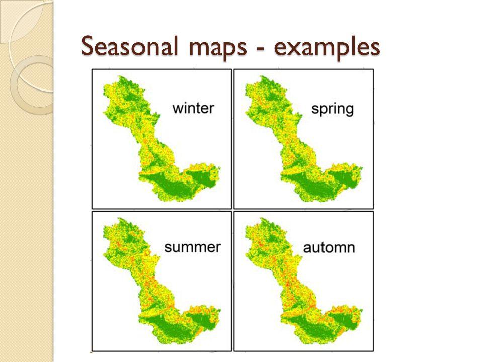 Seasonal maps - examples