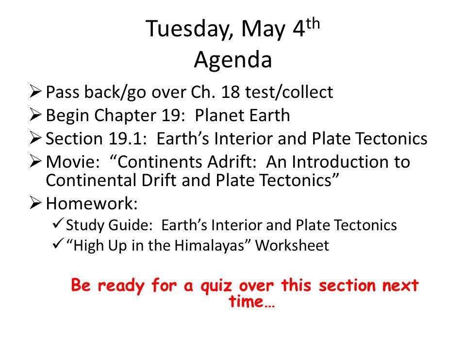 Tectonic Plates Chapter 21
