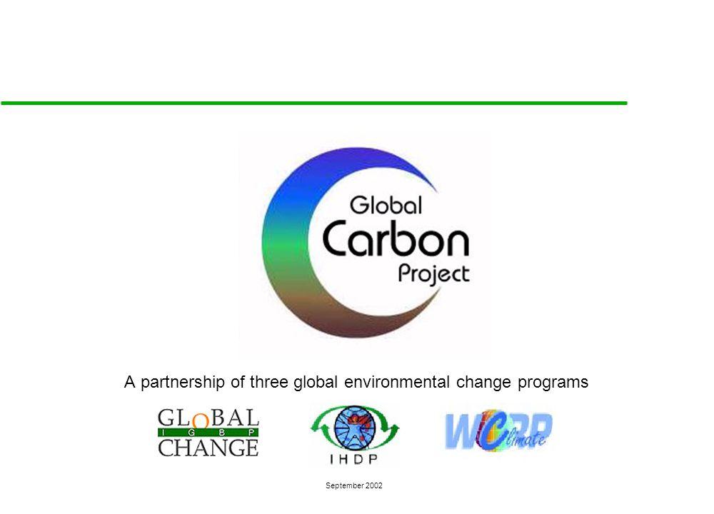 A partnership of three global environmental change programs September 2002