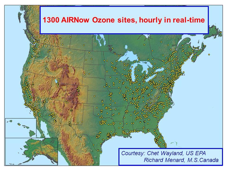 EIONET Workshop, GEMS; www.ecmwf.int/research/EU_projects/GEMS Vilnius October 2005 A.Hollingsworth Slide 22 1300 AIRNow Ozone sites, hourly in real-time Courtesy: Chet Wayland, US EPA Richard Menard, M.S.Canada