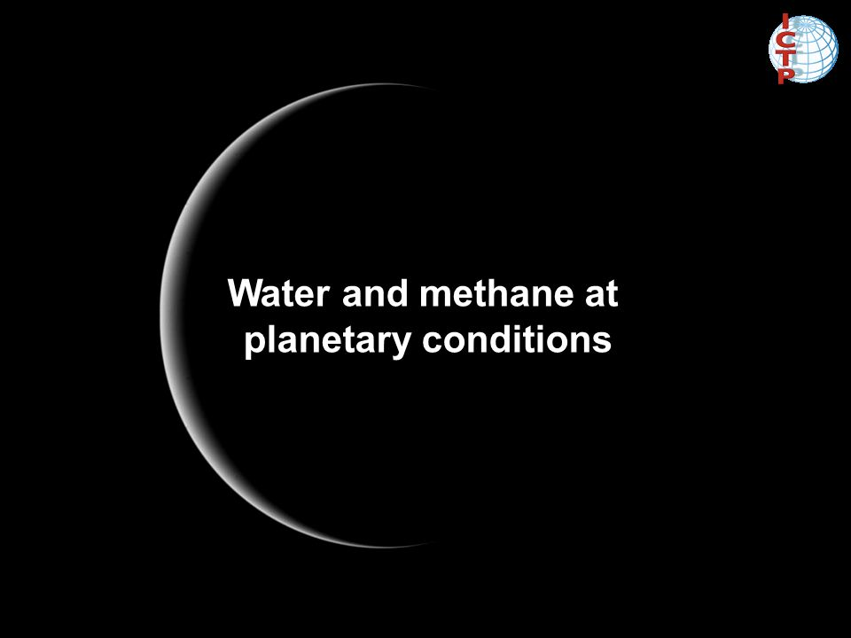 Water and methane at planetary conditions
