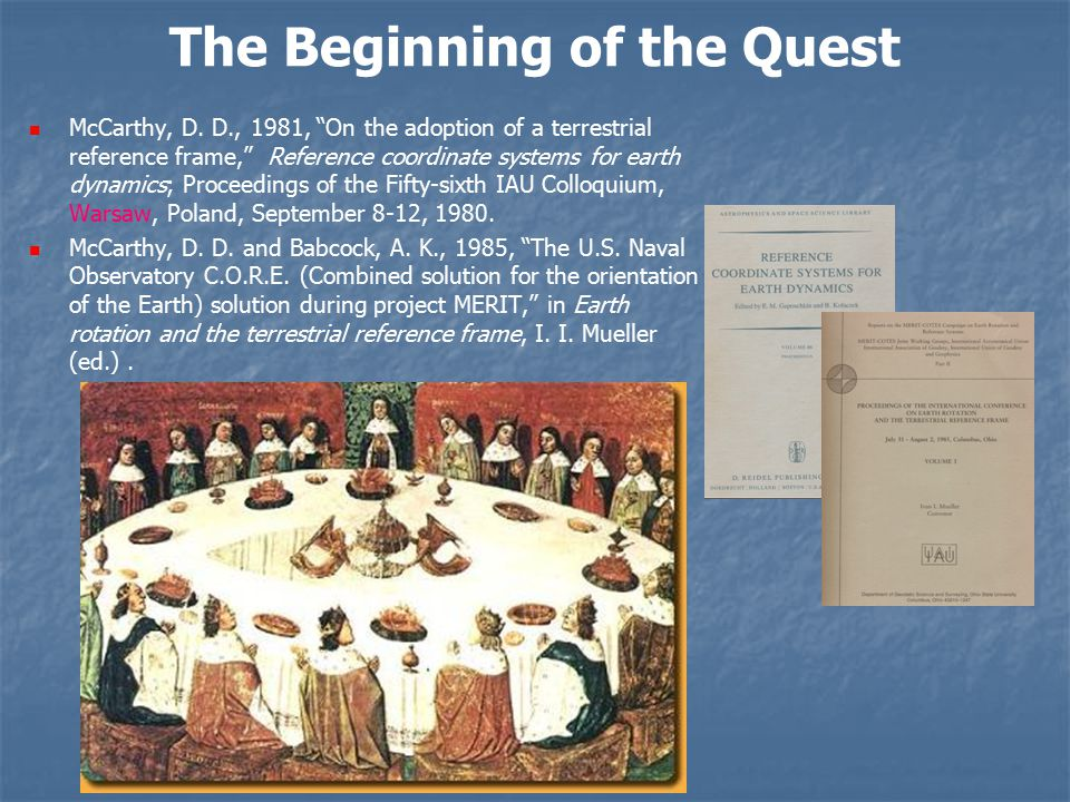 The Beginning of the Quest McCarthy, D.