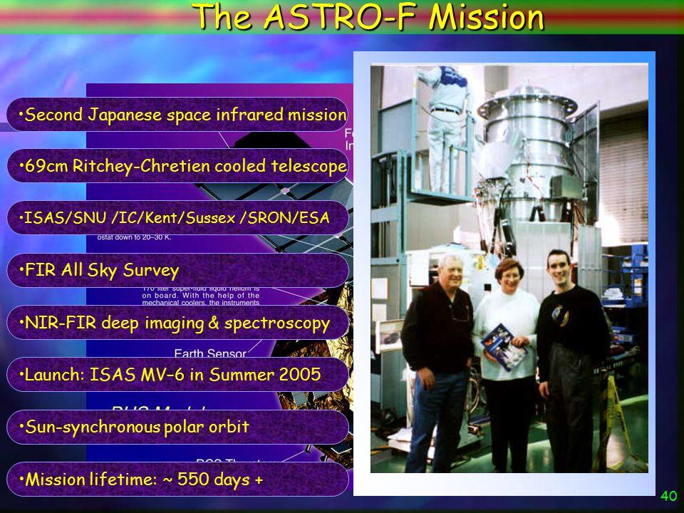 39 The ASTRO-F Mission ASTRO-F