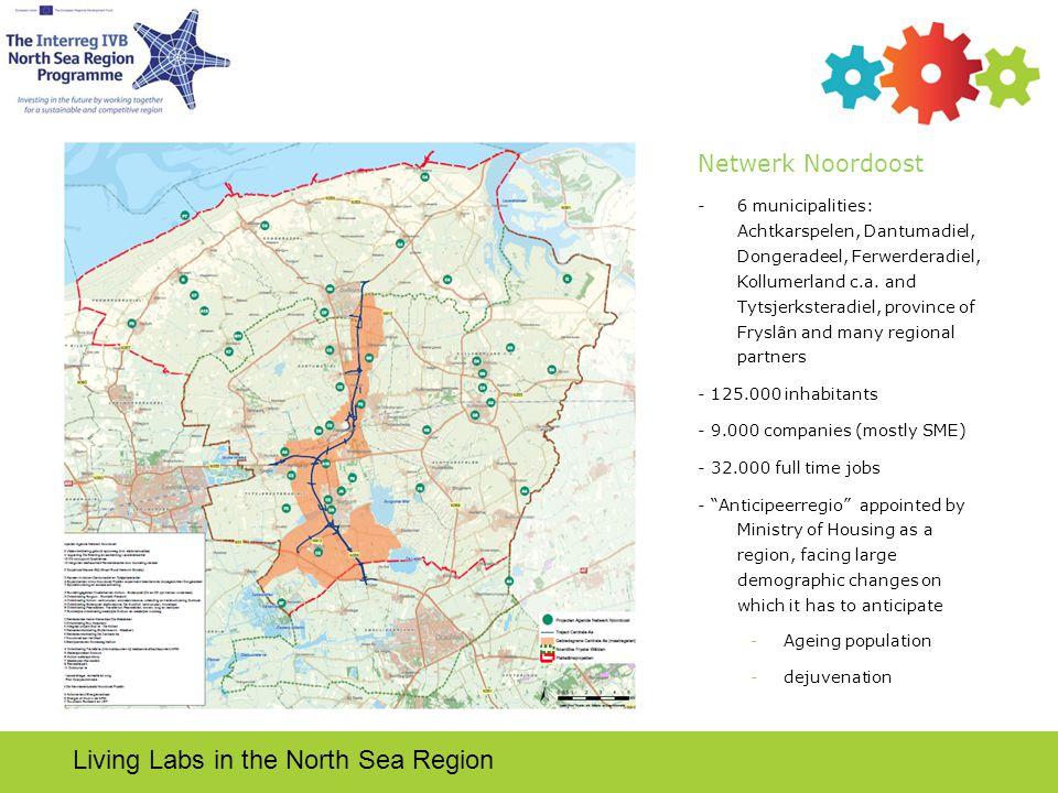 Netwerk Noordoost -6 municipalities: Achtkarspelen, Dantumadiel, Dongeradeel, Ferwerderadiel, Kollumerland c.a.