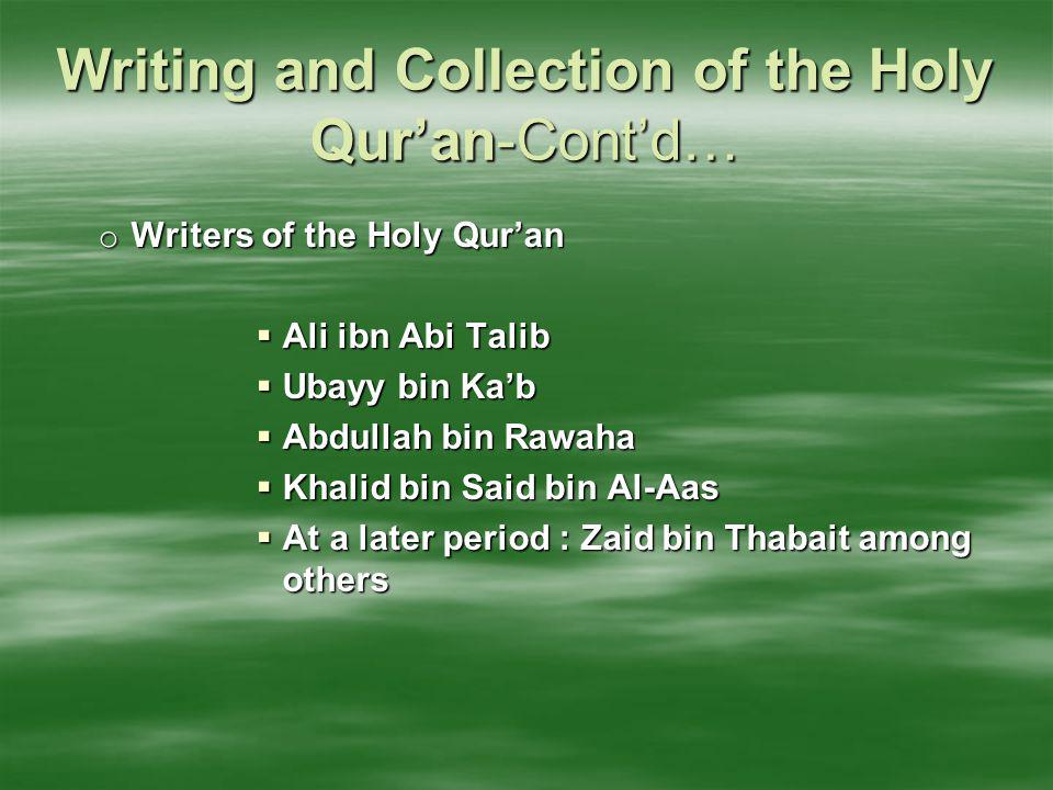 The Holy Qur'an being free from Discrepancies o Do they not contemplate the Qu'ran.