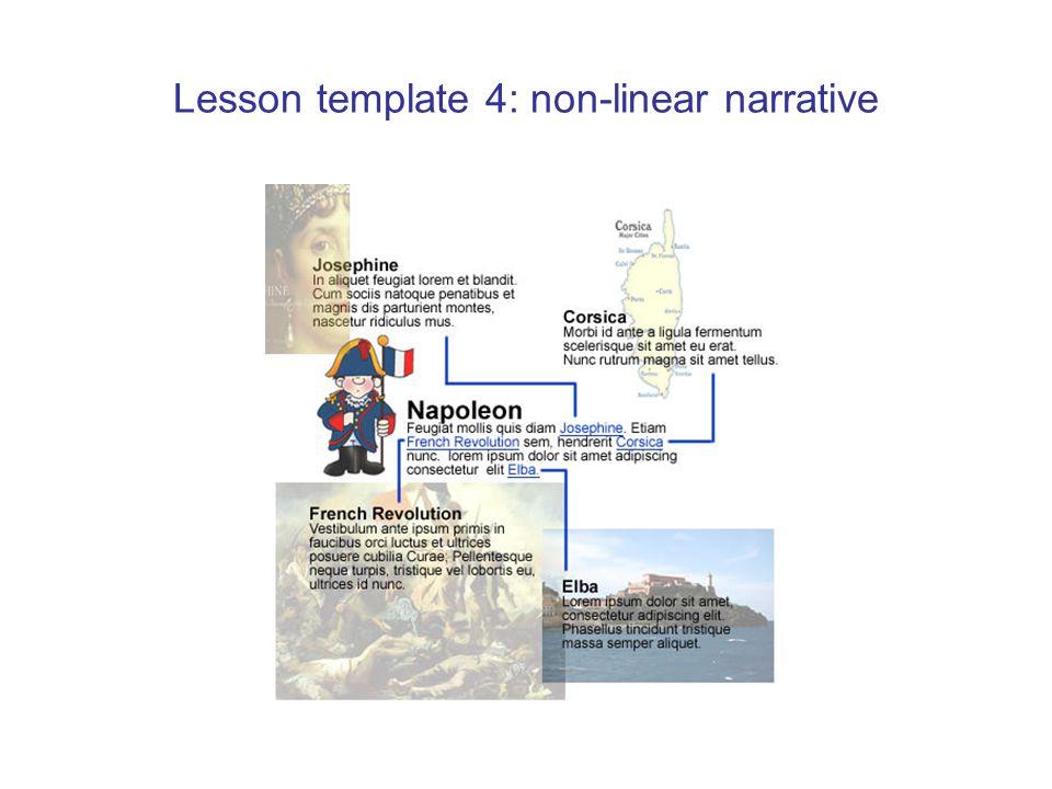 Lesson template 4: non-linear narrative