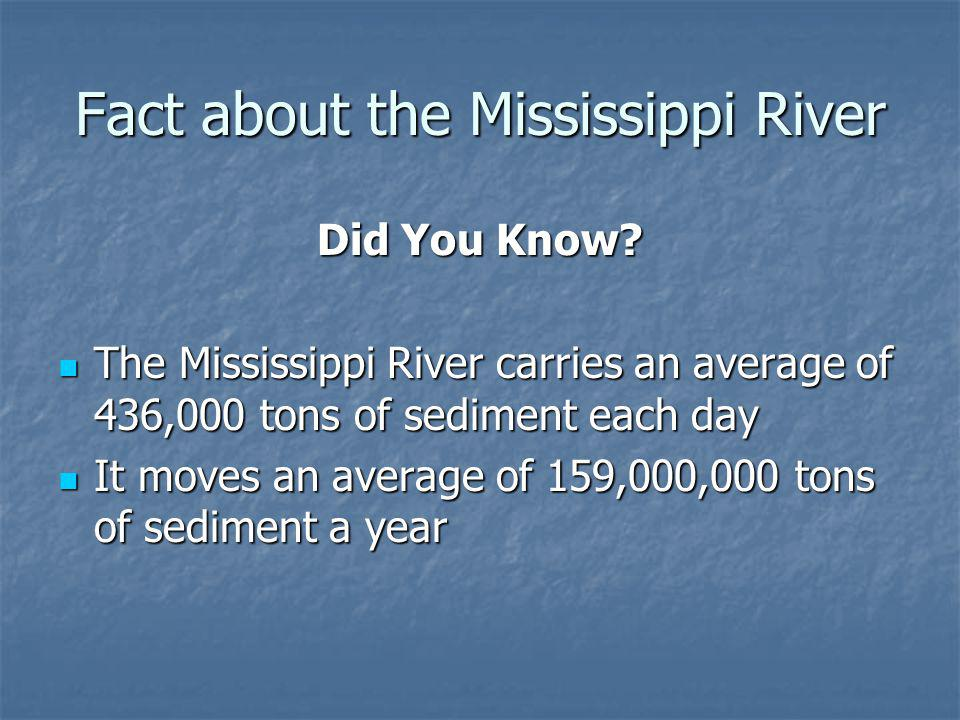 Fact about the Mississippi River Did You Know.
