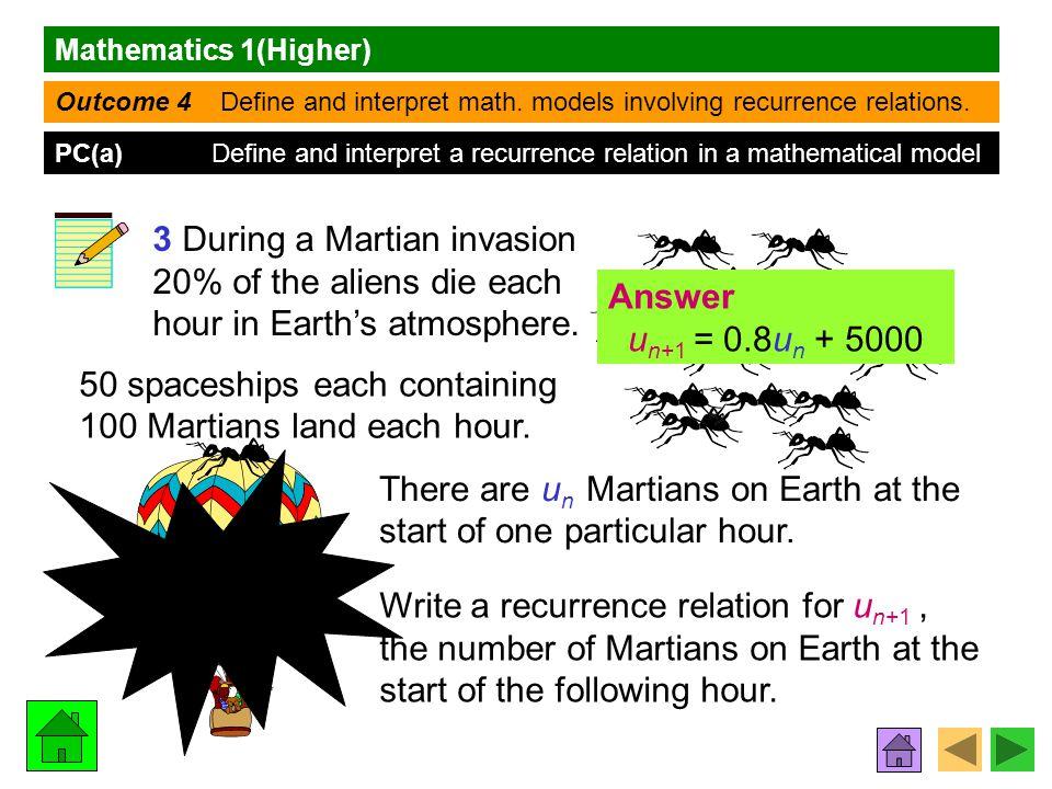 Mathematics 1(Higher) Outcome 4 Define and interpret math.