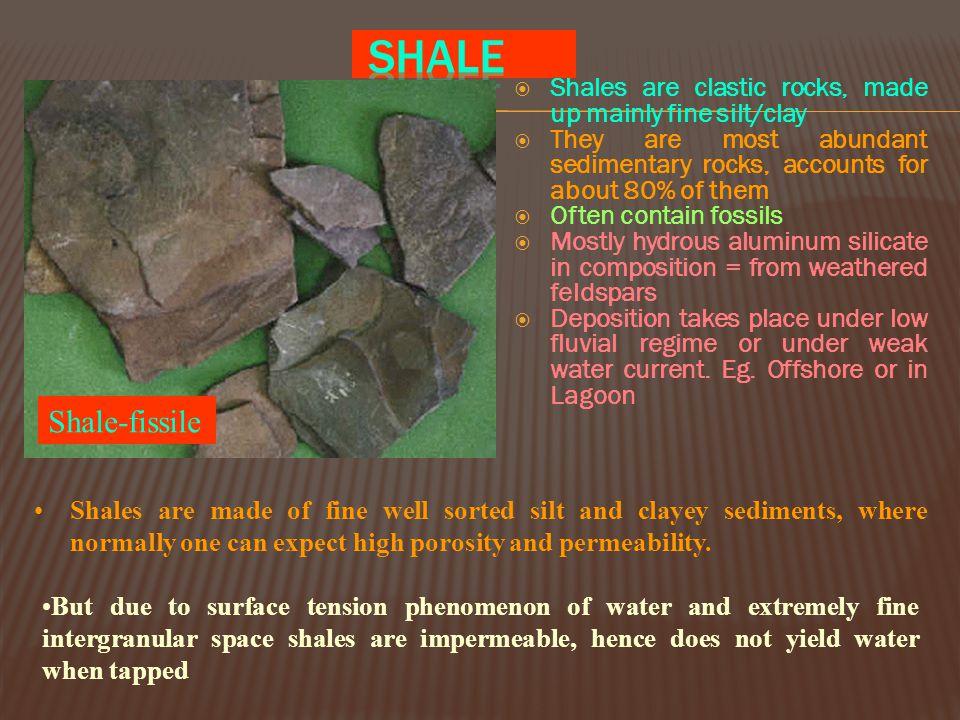 Different type of Sst. (based on their composition) Quartz Sst. Arkose (Feldspar) Graywacke/lithic arenite