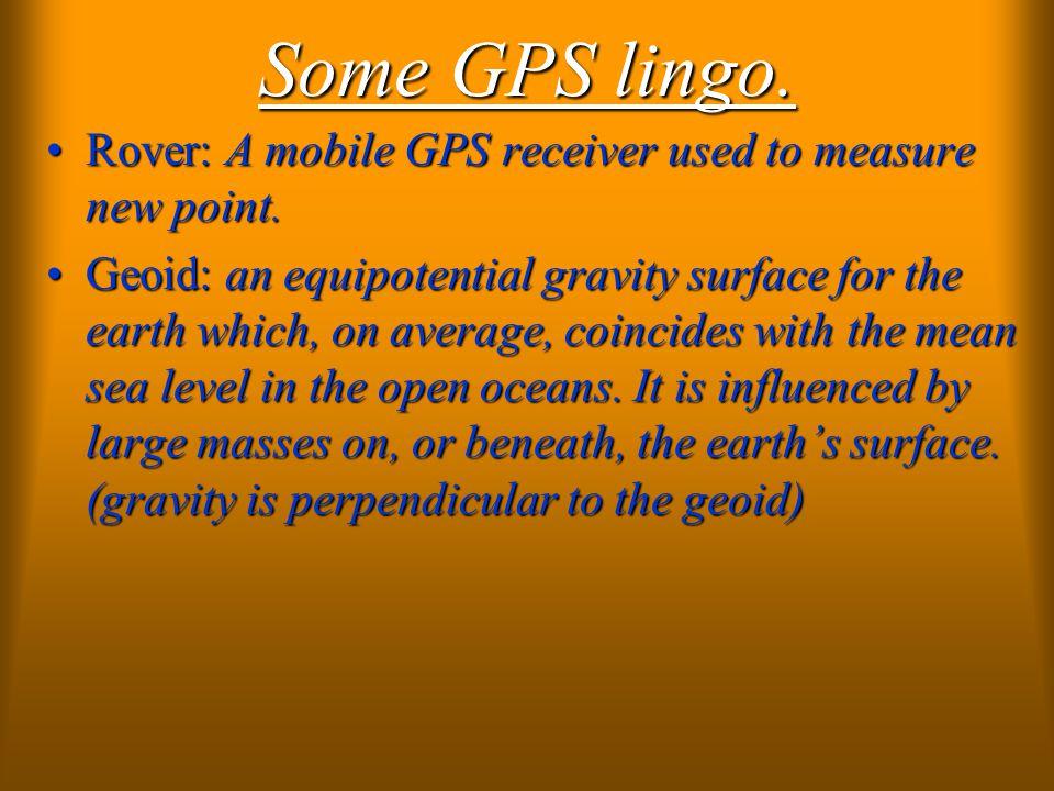 Some GPS lingo.