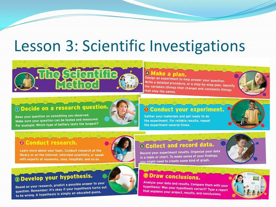 Lesson 3: Scientific Investigations