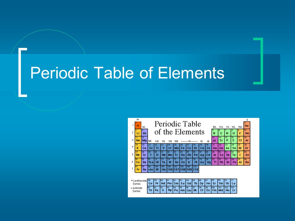 Key to the Periodic Table Elements are organized on the table according to their atomic number, usually found near the top of the square.