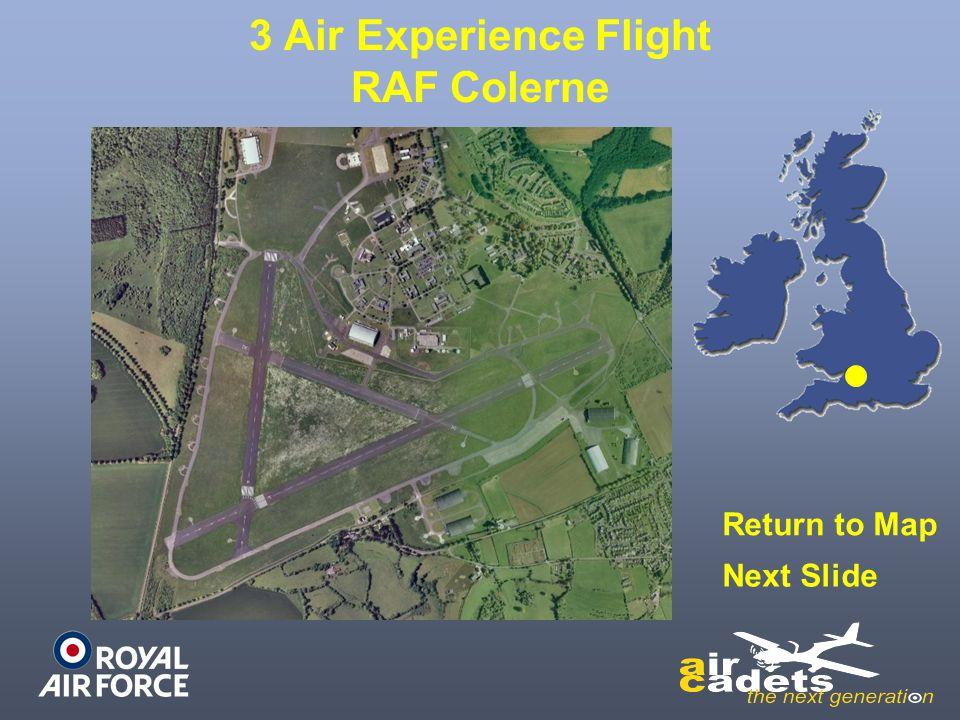 3 Air Experience Flight RAF Colerne Return to Map Next Slide