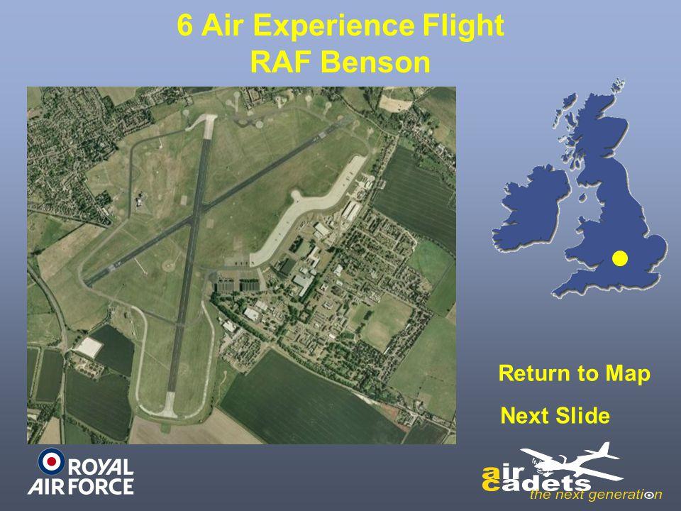 6 Air Experience Flight RAF Benson Return to Map Next Slide