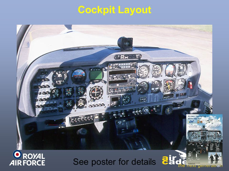 Cockpit Layout See poster for details