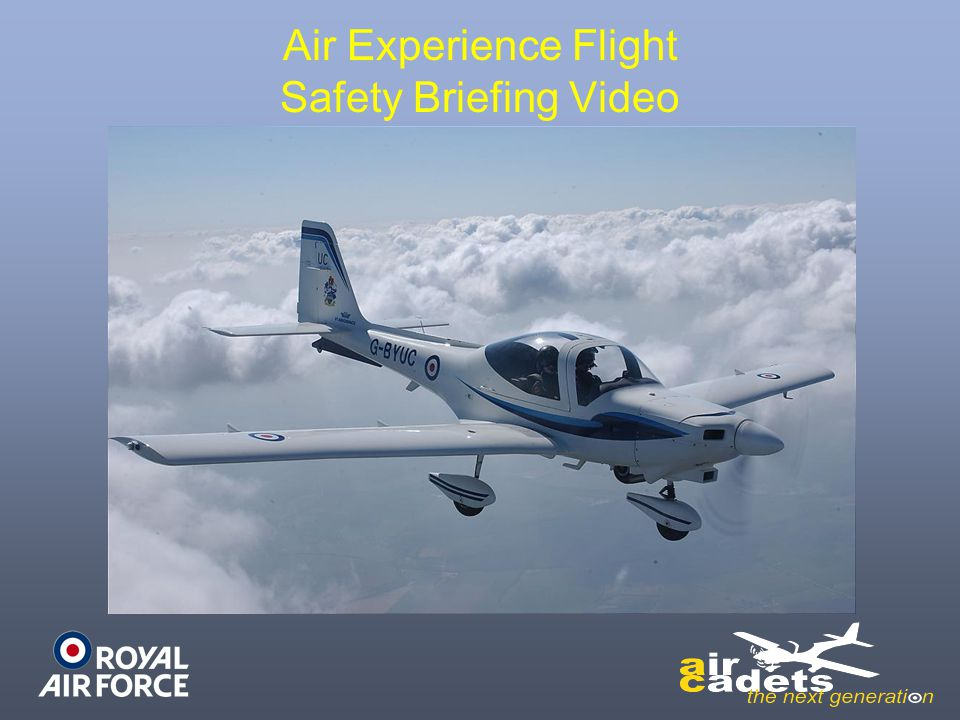 Air Experience Flight Safety Briefing Video