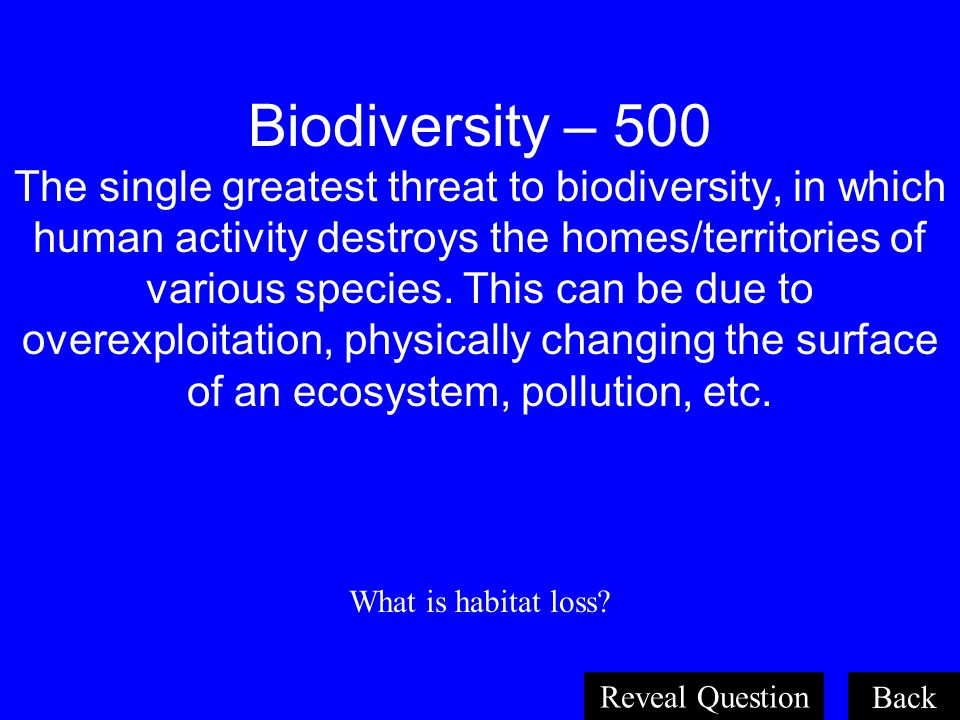 Population Dynamics – 500 The maximum population density that an ecosystem can support, due to limited resources and space. What is the carrying capac