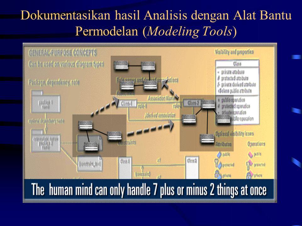 Dokumentasikan hasil Analisis dengan Alat Bantu Permodelan (Modeling Tools)