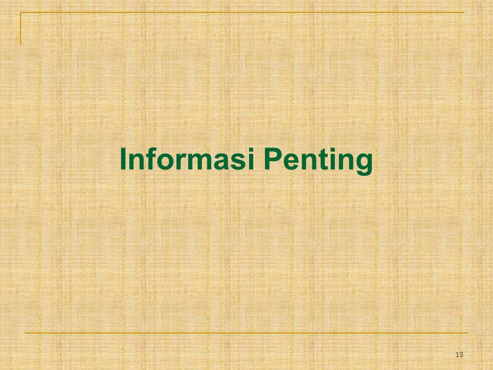 18 Informasi Penting