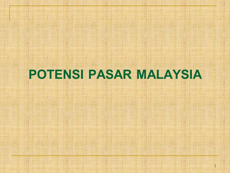 6 SELERA KONSUMEN Orang Malaysia cenderung liberal dalam hal makanan dan menyukai rasa manis-manis.