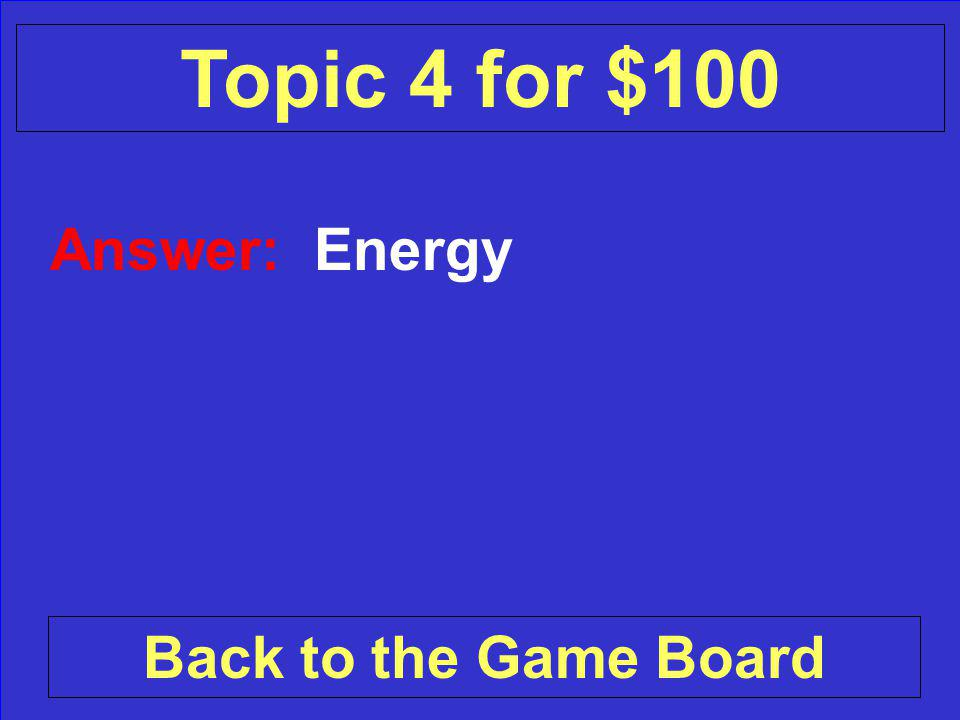 Question: What is released when an earthquake happens Check Your Answer Topic 4 for $100