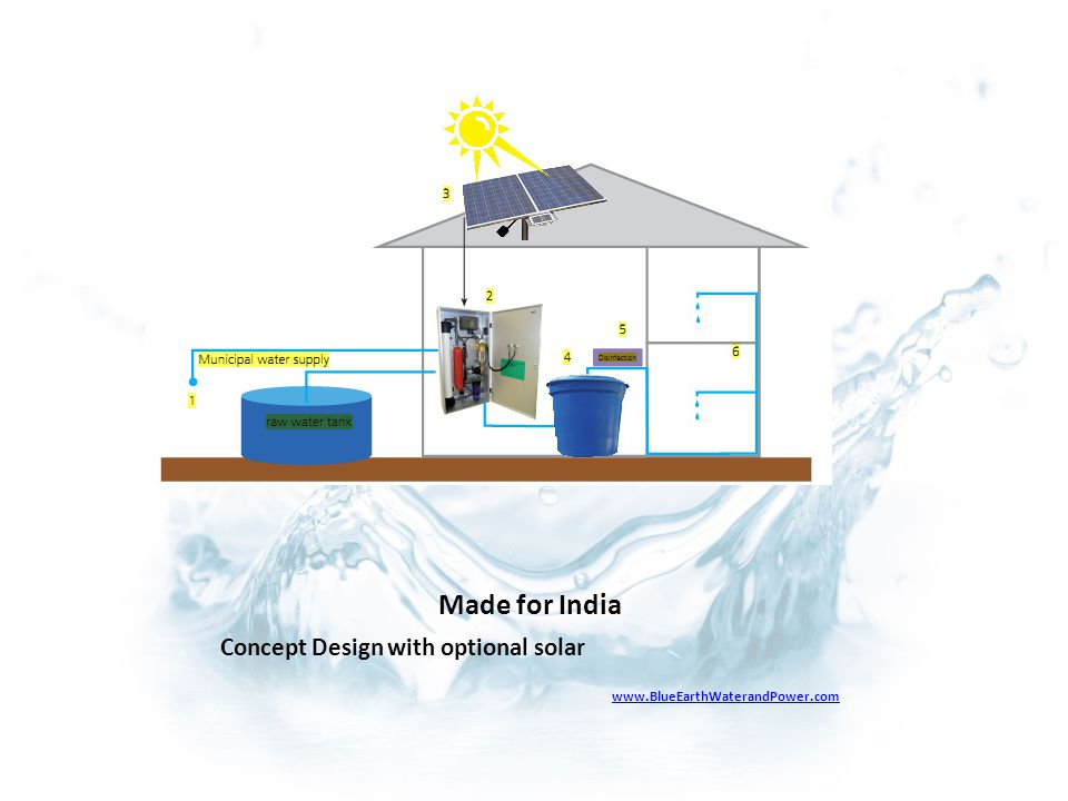 Made for India Concept Design with optional solar www.BlueEarthWaterandPower.com