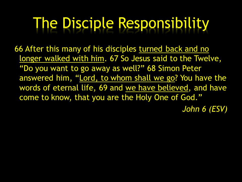 66 After this many of his disciples turned back and no longer walked with him.