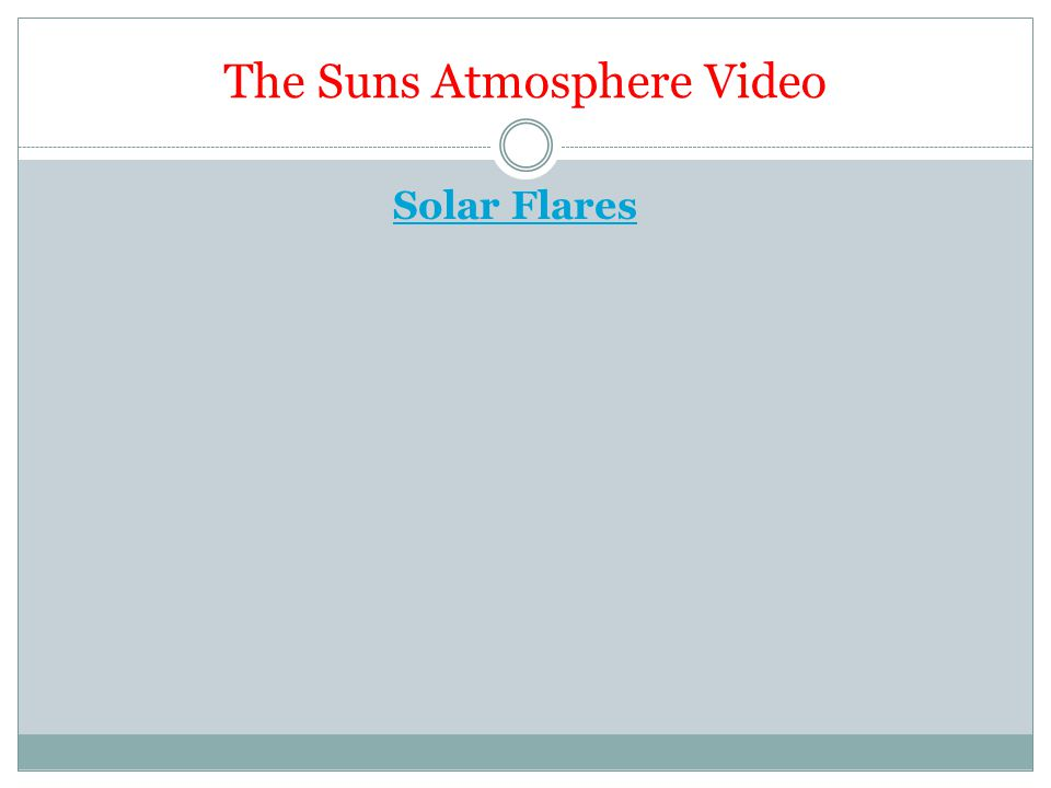 The Suns Atmosphere Video Solar Flares