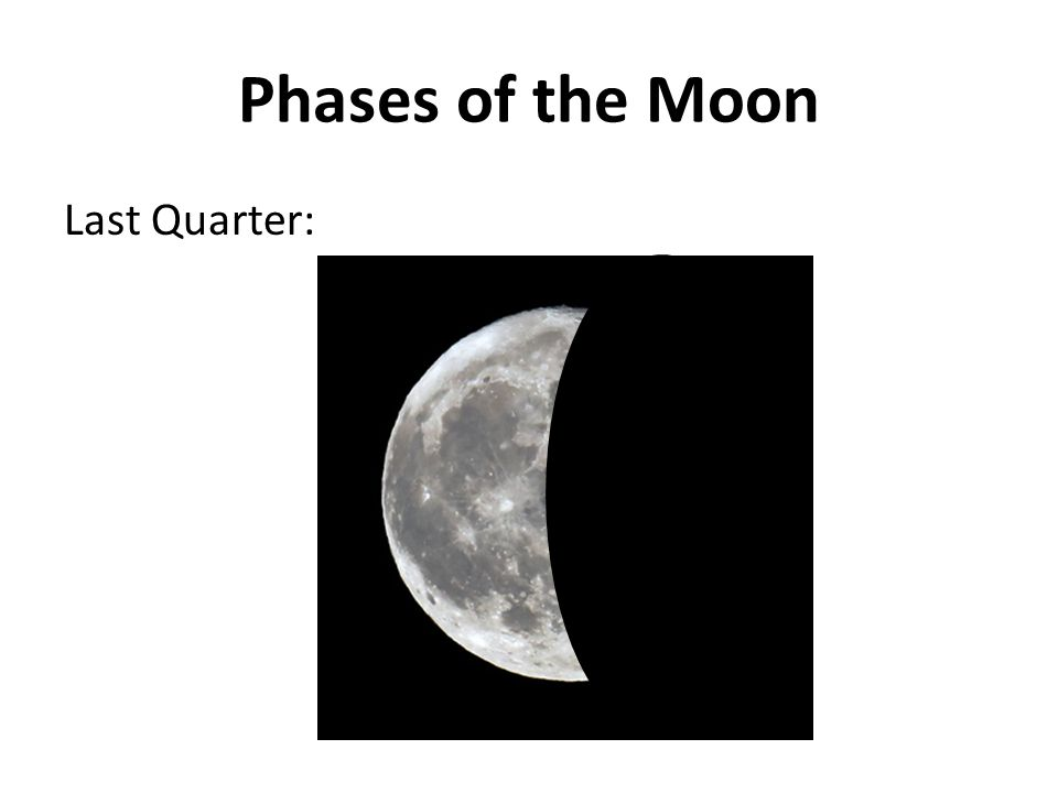 Phases of the Moon Last Quarter: