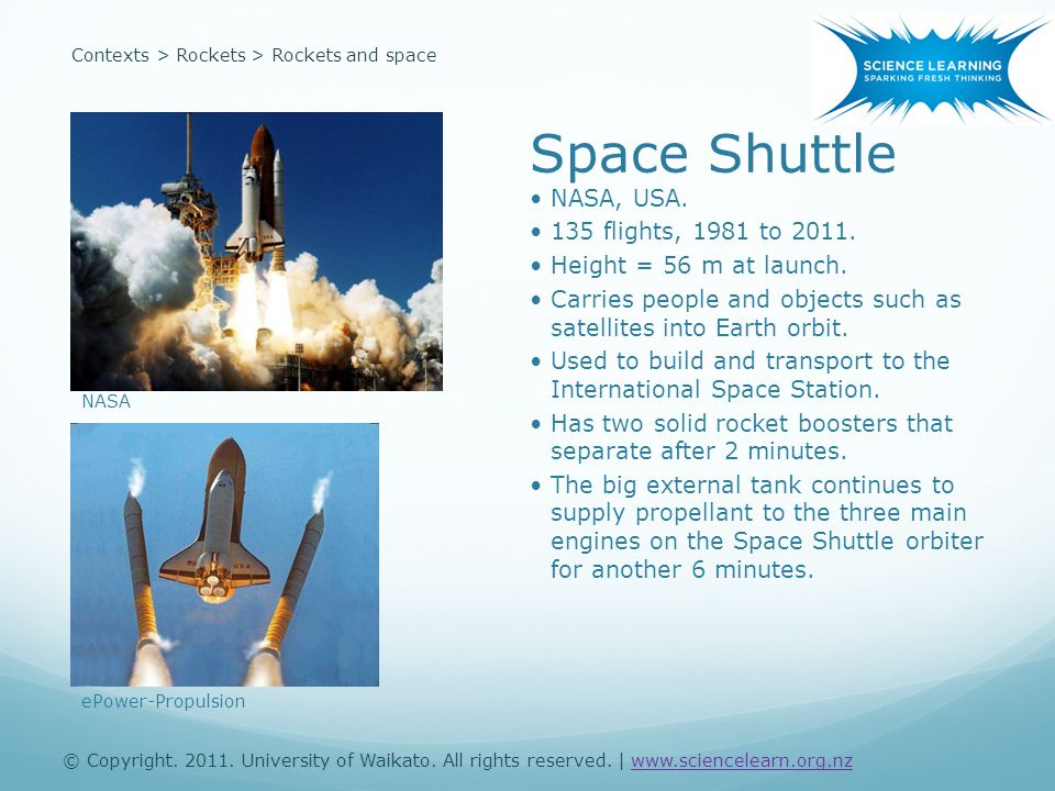 Contexts > Rockets > Rockets and space Space Shuttle NASA, USA.