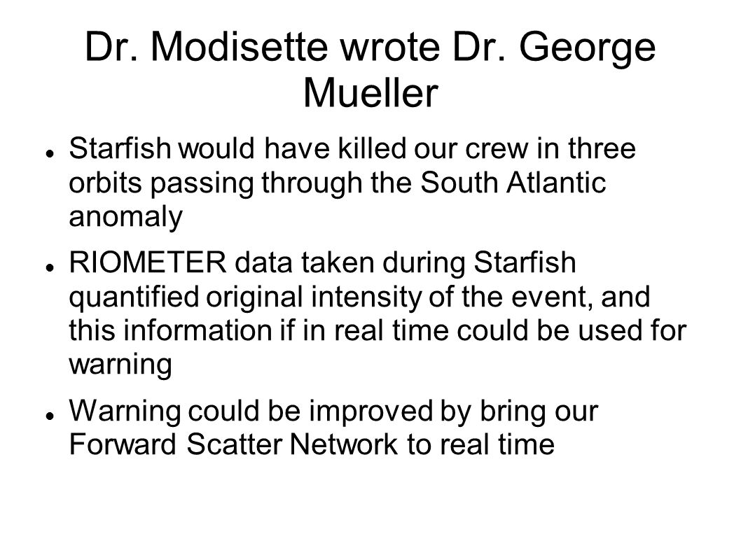 Dr. Modisette wrote Dr.