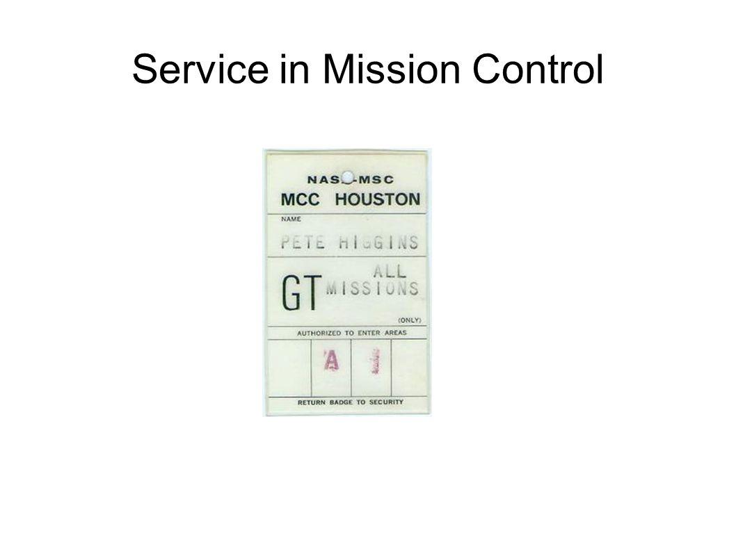 Service in Mission Control