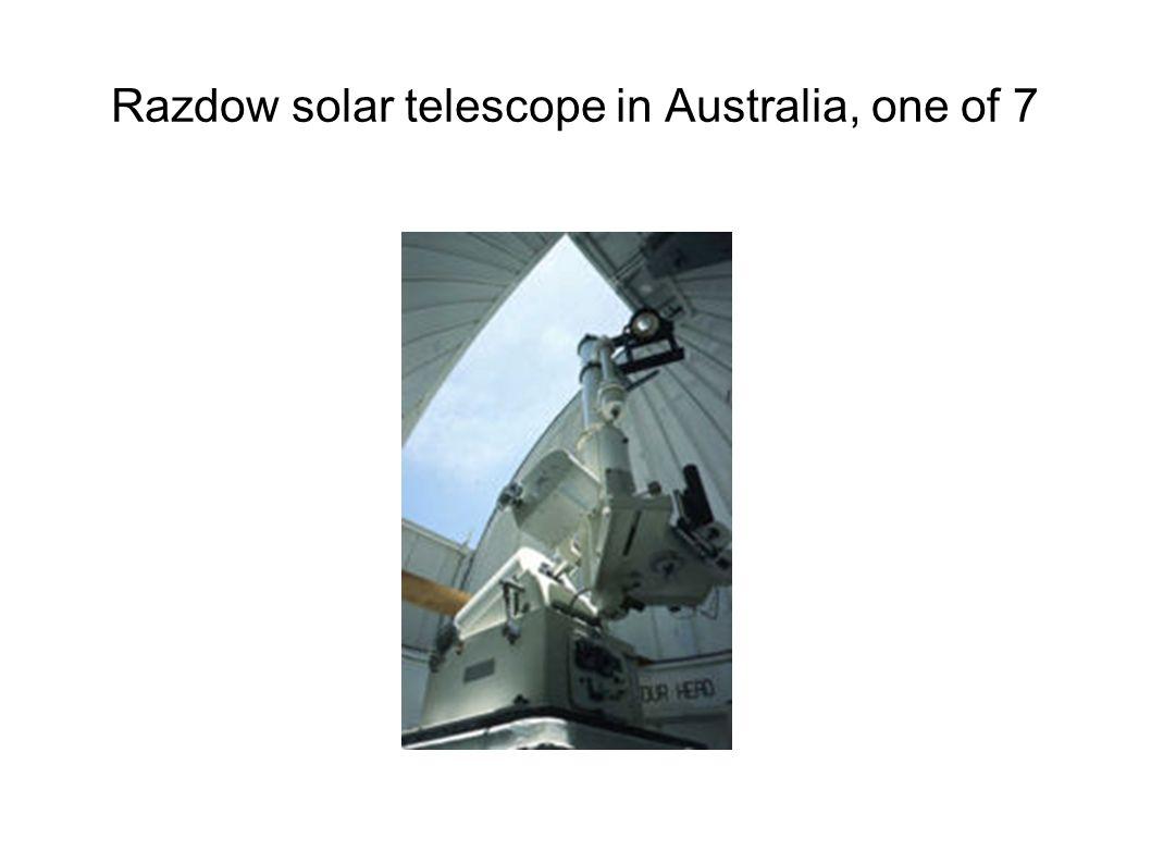 Razdow solar telescope in Australia, one of 7