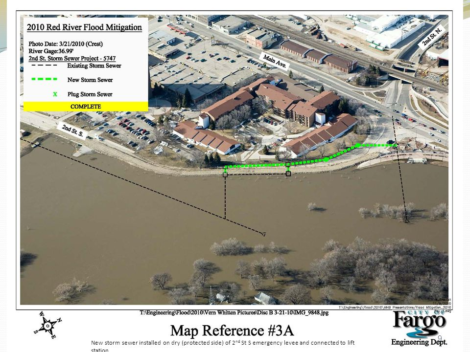 Belmont Park Levee Raise from 1518 S River Rd to 245 Lindenwood Drive Complete Purchase offer pending 10
