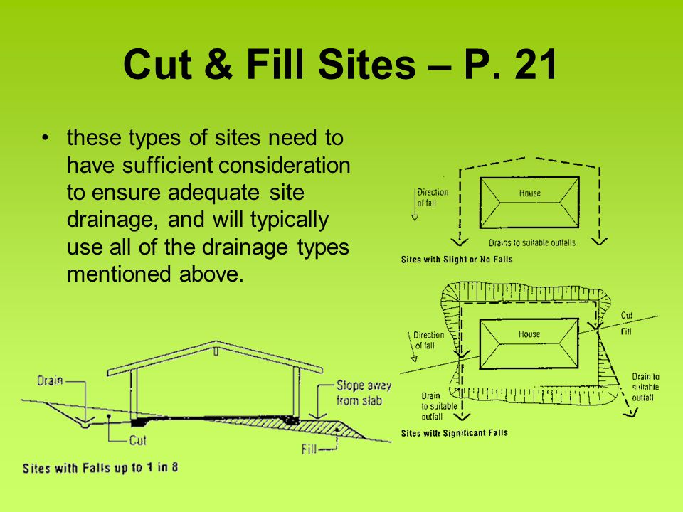 Cut & Fill Sites – P.