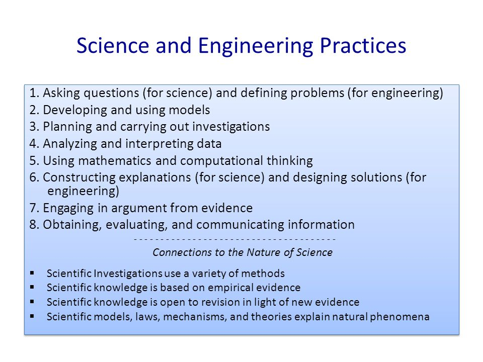 Science and Engineering Practices 1.
