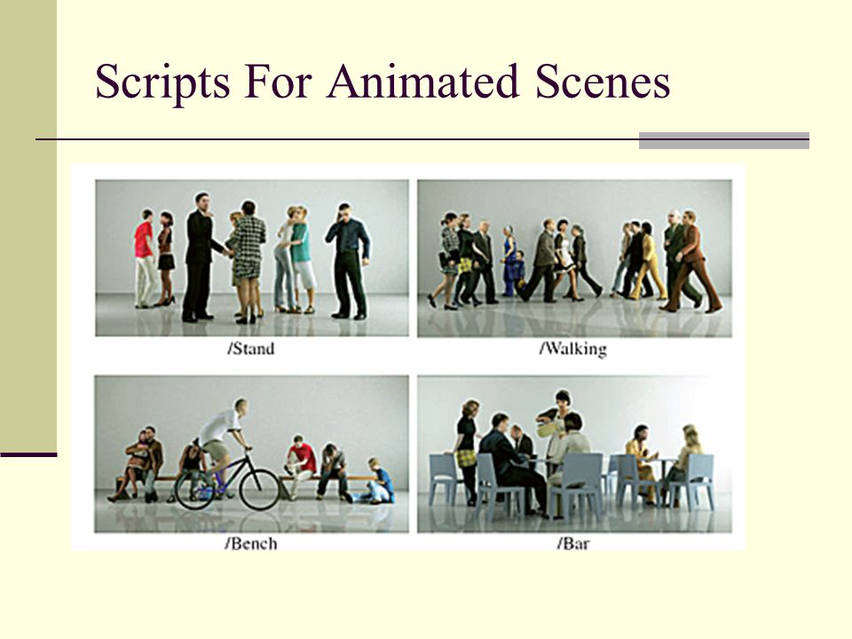 Scripts For Animated Scenes