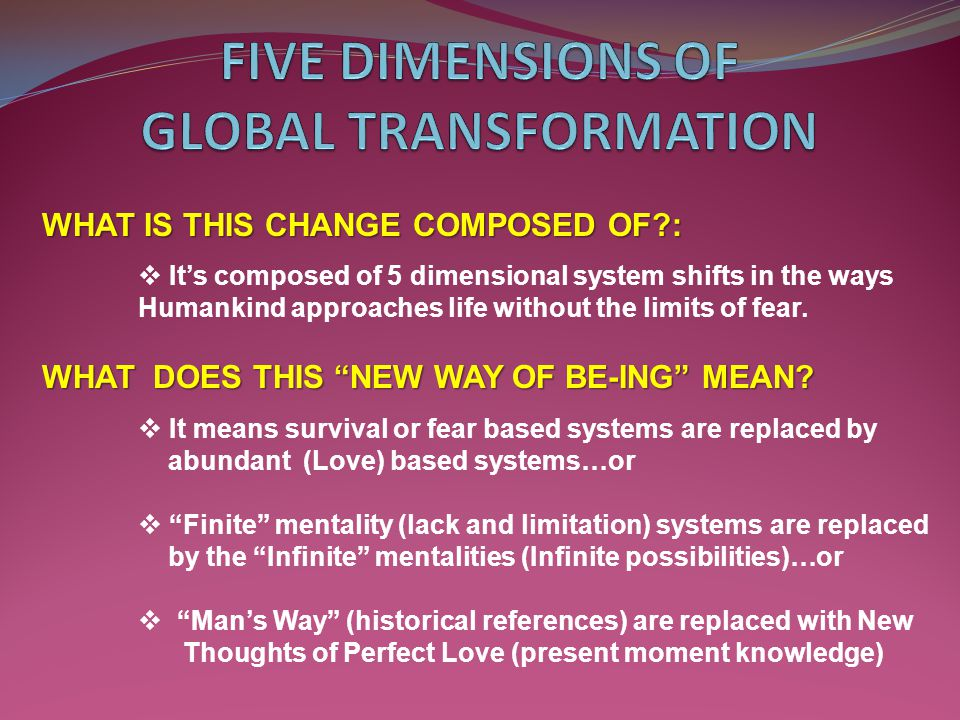 5 DIMENSIONS OF GLOBAL TRANSFORMATION 1.Educational Systems Talent Discovery, & Development 2.