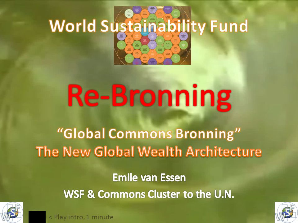 Make Earth Sources a commons => Share common sources use and profit worldsustainabilityfund.nl