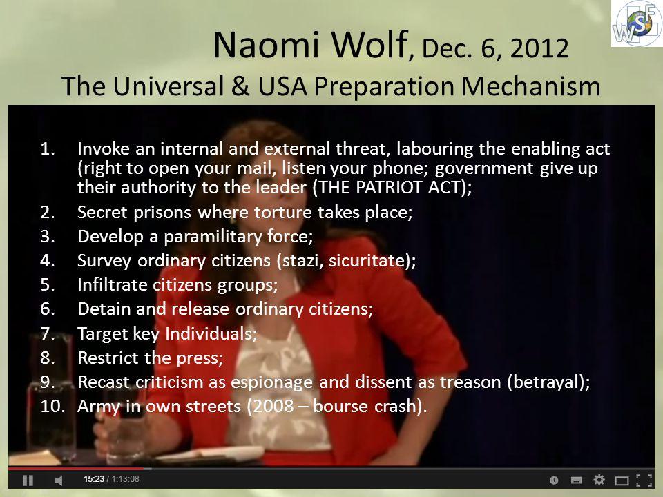 Naomi Wolf, Dec.