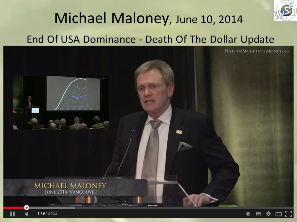 Michael Maloney, June 10, 2014 End Of USA Dominance - Death Of The Dollar Update