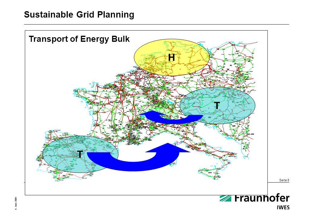 Seite 8 4. Juni 2009 Transport of Energy Bulk T T H Sustainable Grid Planning