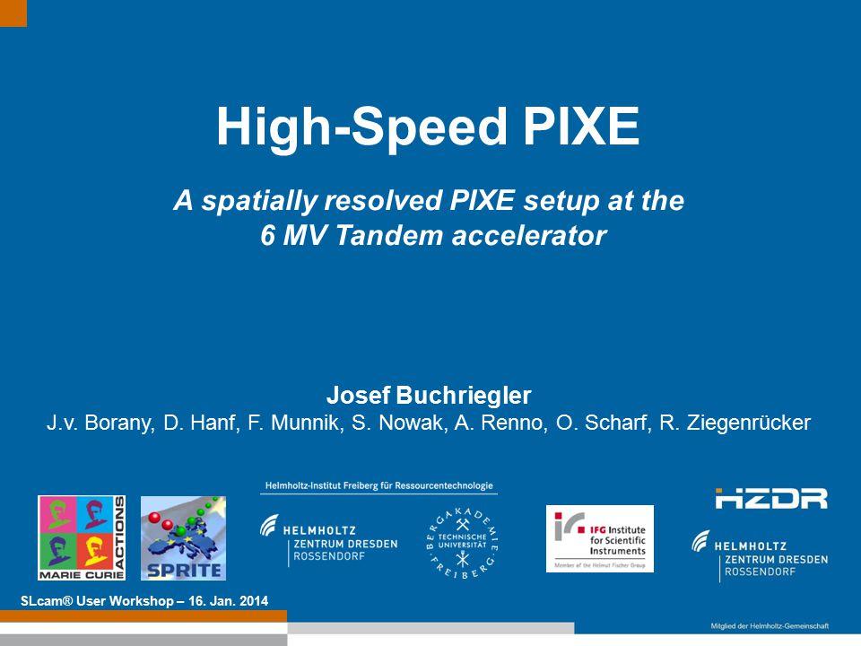 Text optional: Institutsname Prof. Dr. Hans Mustermann www.fzd.de Mitglied der Leibniz-Gemeinschaft High-Speed PIXE A spatially resolved PIXE setup at